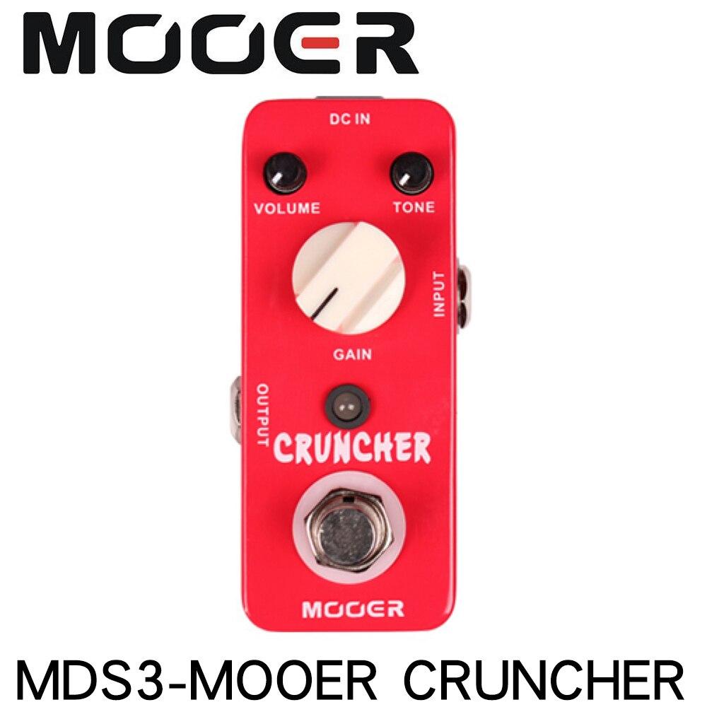 MOOER MDS3 CRUNCHER High Gain Distortion Guitar Effect Pedal True Bypass Full Metal Shell