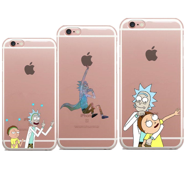 half off 92ad2 92b12 US $1.82 39% OFF|Phone Cases Rick and Morty Soft TPU Cover For iPhone SE 5  5S 6 6S Plus 7 7 Plus Clear transparent Case For iPhone X 8 8Plus New-in ...