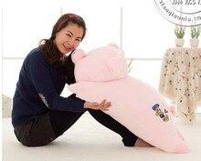 big cartoon cute plush pig toys pink soft lying pig doll stuffed doll birthday gift about 70cm
