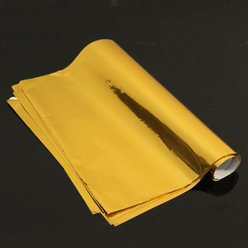 50 Pcs A4 Gold Hot Stamping Transfer Foil Paper Laminator Laminating ...