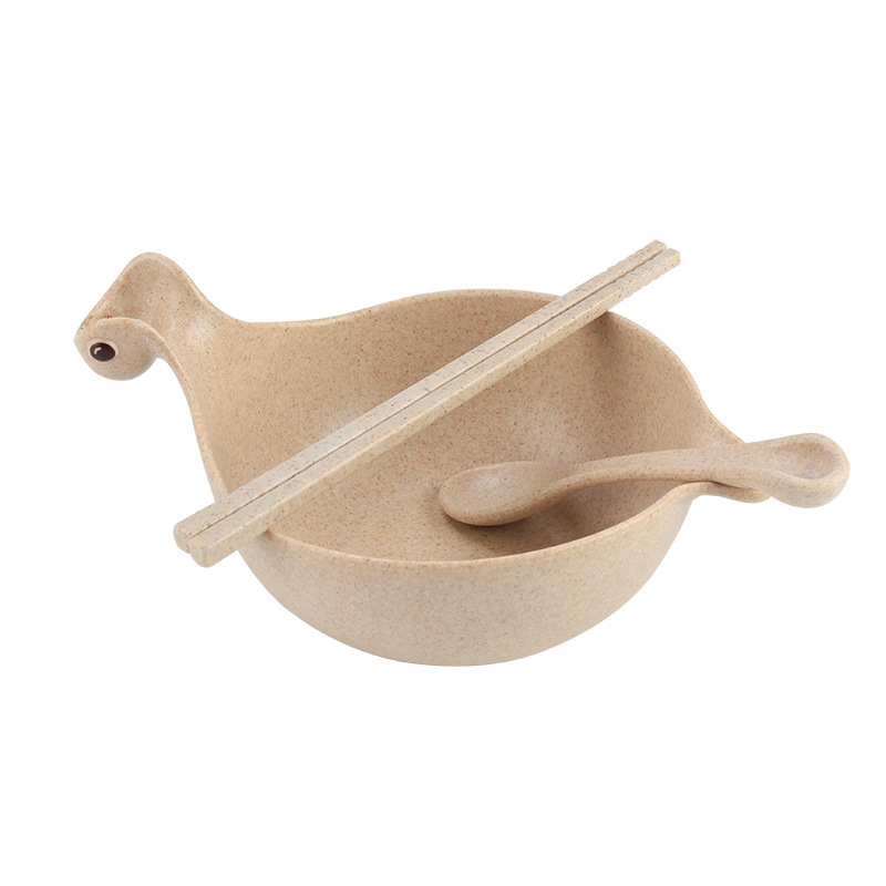 3pcs/set High Quality Wheat Straw Cartoon Tableware Sets Cute Dinosaur Plastic Children Bowl Dishes Dinnerware Sets-in Dinnerware Sets from Home u0026 Garden on ...  sc 1 st  AliExpress.com & 3pcs/set High Quality Wheat Straw Cartoon Tableware Sets Cute ...