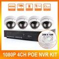 Открытый IP Купольная Камера HD Рекордер 4CH POE NVR КОМПЛЕКТ 1080 P Камера Видеонаблюдения Главная Система Безопасности 1920*1080 2.0MP Рекордер
