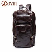 Men's Genuine Leather Backpack Casual Day Pack Man Cow Leath