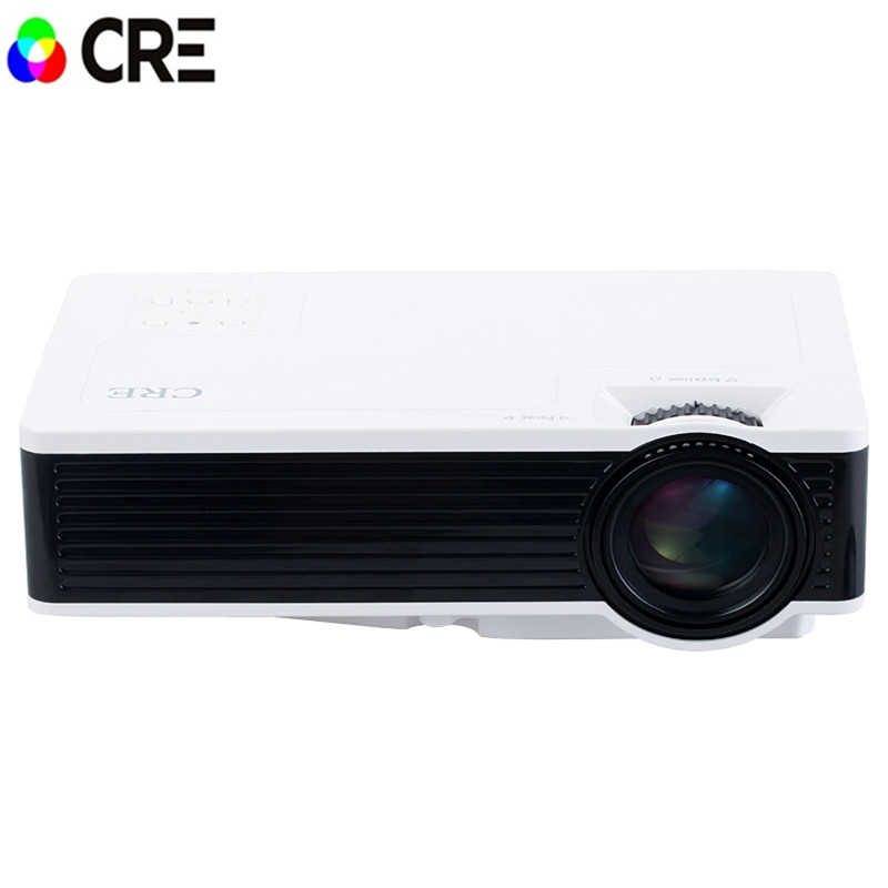 Mini font b Projector b font LCD 1000LM 1920 x 1080 Resolution AV USB 3 0