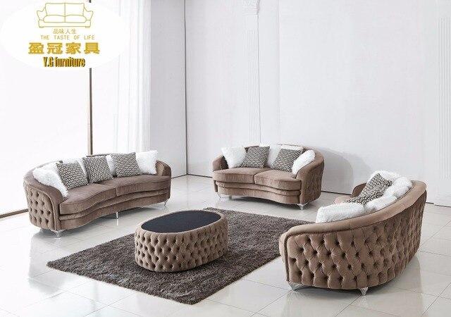 Samt Chesterfield Sofa Design für Wohnzimmer Möbel Moderne