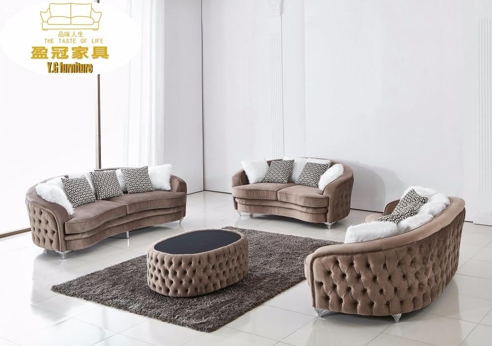 Us 1550 0 Velvet Chesterfield Sofa Design For Living Room Furniture Modern In Sofas From On Aliexpress