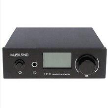 Musiland HP11 AMPLIFICADOR de Auriculares 6.35mm para auriculares amplificador digital Programable 1 * RCA entrada 2 salida RCA *