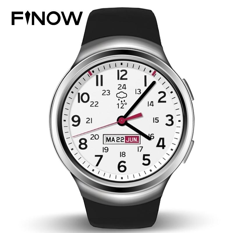En Ventas Finow X3 K9 Smart Watch 3G Dual Core Android Bluetooth 4.4 podómetro del ritmo cardíaco Monitores WCDMA sim tarjeta smartwatch PK D5