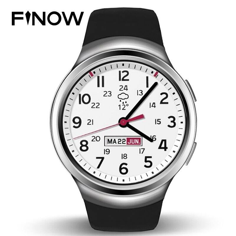SUR LES VENTES Finow X3 K9 Montre Intelligente 3G Dual Core Bluetooth Android 4.4 Podomètre Moniteur de Fréquence Cardiaque WCDMA Carte SIM Smartwatch PK D5