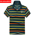 Mens Polos Shirt New 2017 British Style Classic Original Brand NianJeep Clothing Short Sleeve Casual air force one Striped