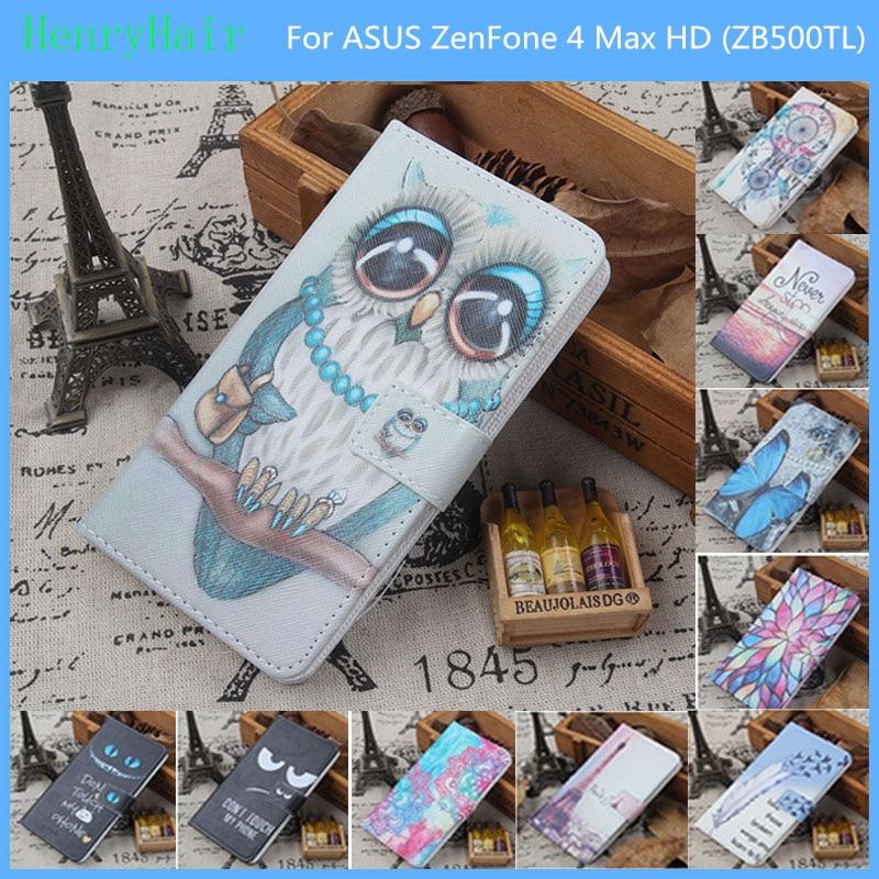 Mode 11 Couleurs de Bande Dessinée Peinture PU En Cuir Magnétique fermoir Portefeuille Couverture Pour ASUS ZenFone 4 Max HD (ZB500TL) cas