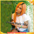 Fashion Kylie Jenner Hair Orange Ombre Wig Dark Roots BlackPeach Two Tone Hair Synthetic Lace Front Wig Heat Resistant Fibre