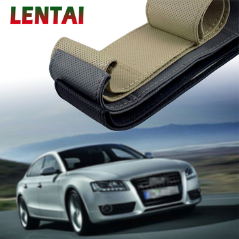 LENTAI For BMW e46 e39 e90 e60 e36 f30 f10 e30 x5 e53 f20 Ssangyong Lexus 1Set Car steering wheel cover Leather Hand stitching image