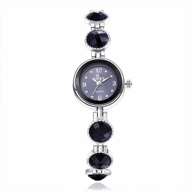 Women's Stainless Steel Band Analog Quartz Fashion Dress Bracelet Wrist Watch Be