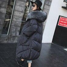 2018 зимние пальто высокого качества пальто Модная женская длинная куртка женская утепленная пуховая парка пальто Верхняя одежда для беременных Одежда