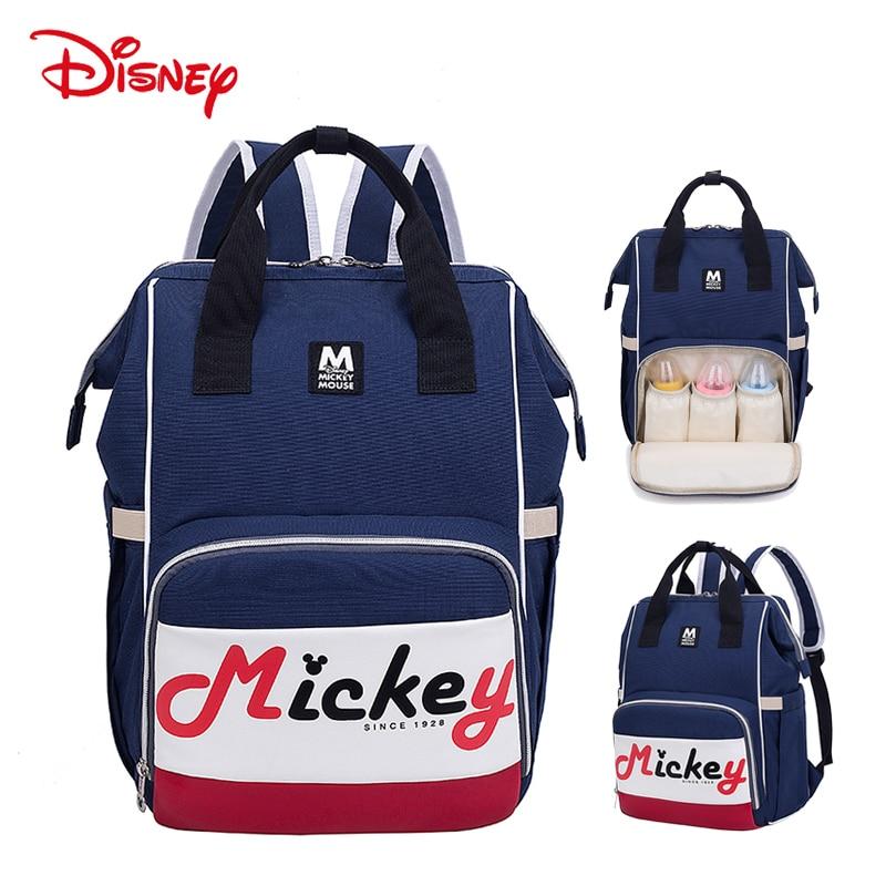 Disney Minnie Mickey Grande Capacidade Saco Múmia saco De Fraldas Maternidade de Enfermagem Do Bebê Do Desenhador Para Cuidados Com O Bebê Saco de Fraldas Mochila de Viagem