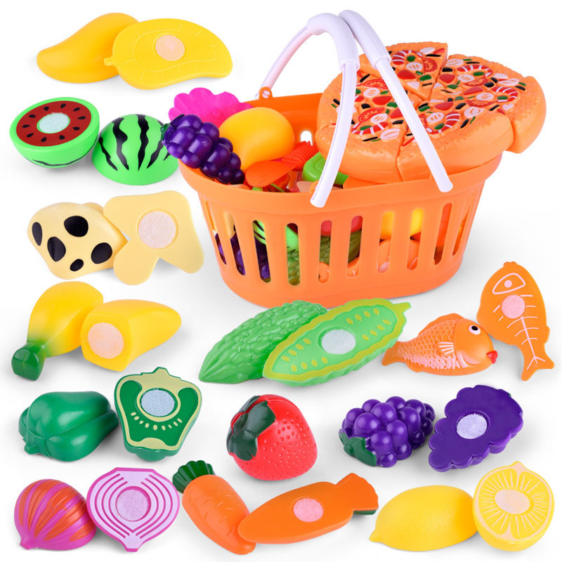 1 Set Children Kids Girl Role Play Toy Simulation Fruit Vegetables Gift Fun Game M09