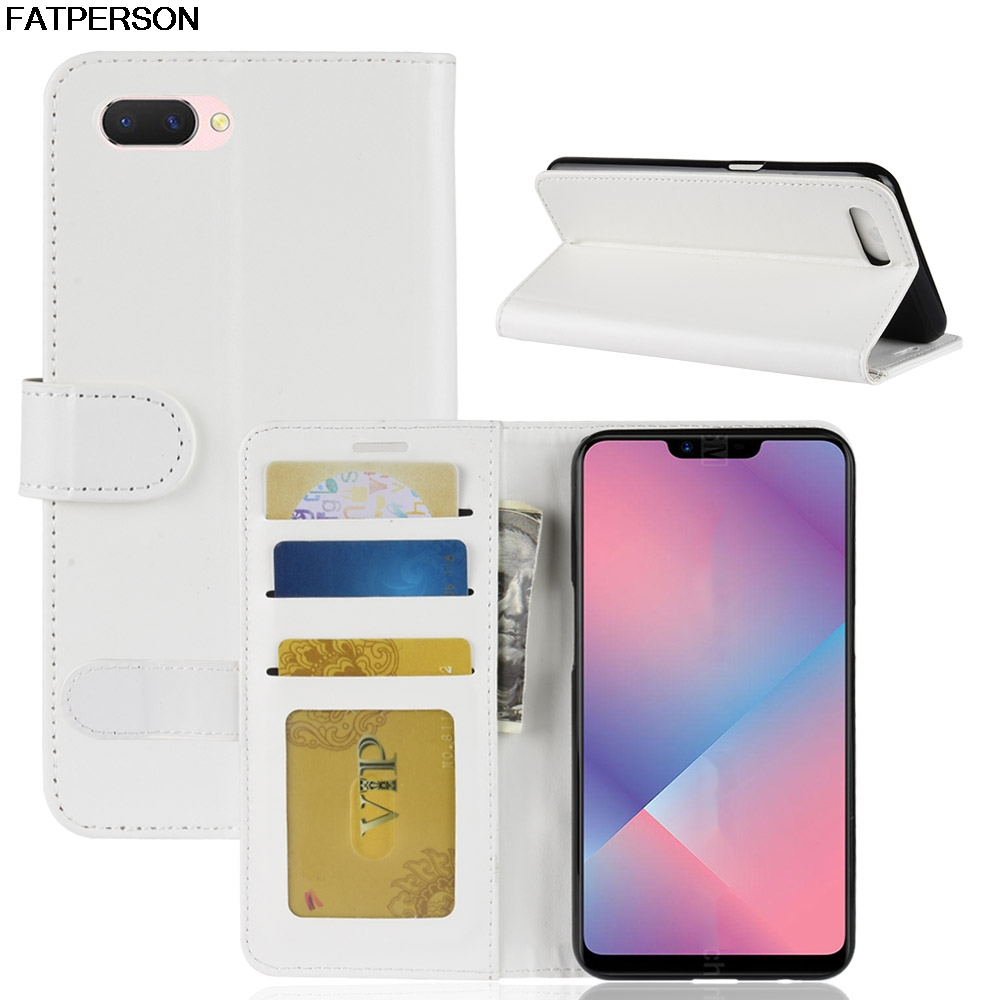 Smart cover Soft Wallet For OPPO A5 6.2 inch case Phone Bracket Luxury PU Phone case For OPPO A5 Multi-function protection