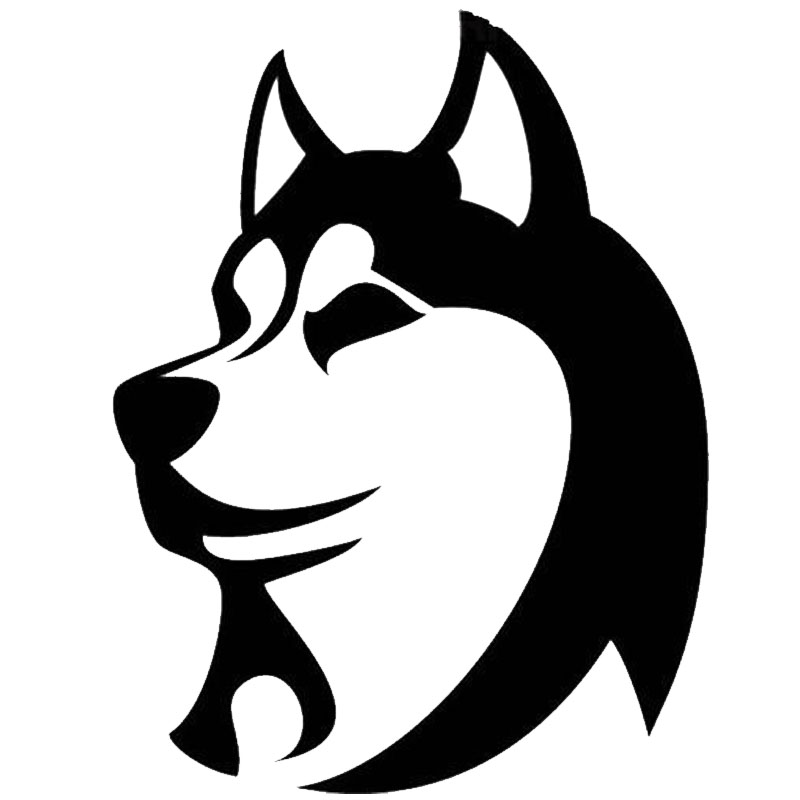 9.7*12.7CM Silly Cute Husky Dog Head Car Stickers Creative Decals Car Styling Accessories Black/Silver S1-0288