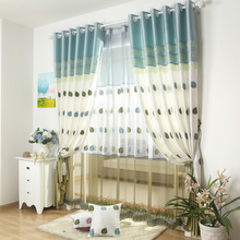 Luxurious Tulle For Living Room Country Yarn Curtains Rustic Chiffon Curtains Embroidery Gauze Curtains Leaf Voile