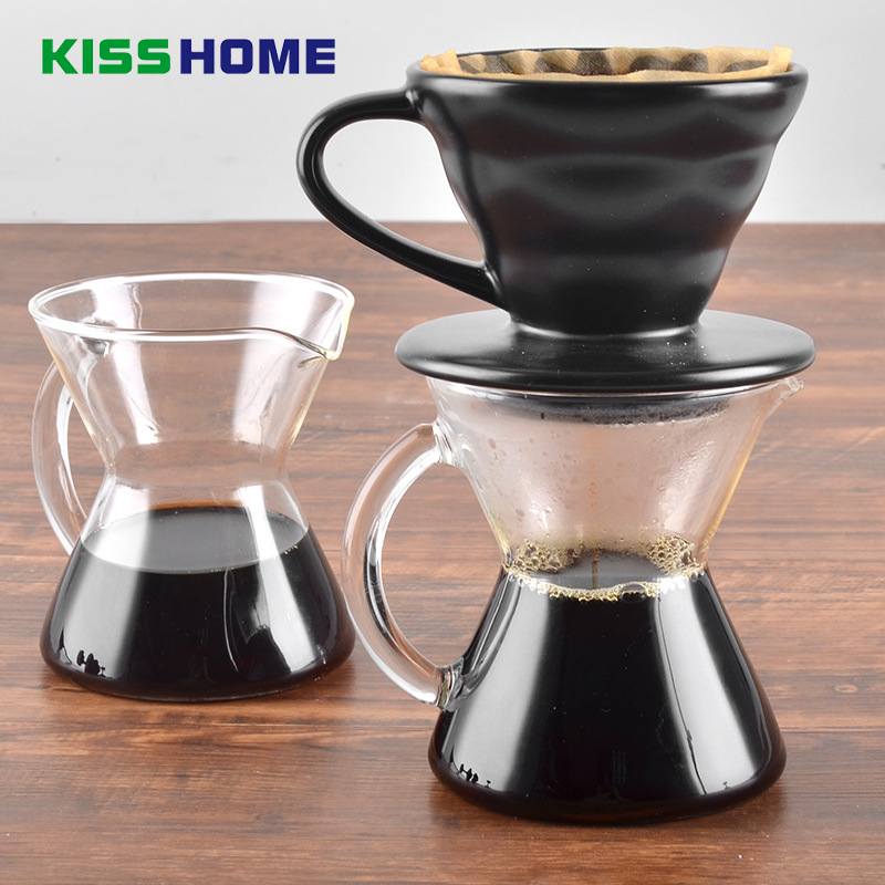 500ml Espresso Coffee Glaess Share Pot with Handle Heat-resistant High Boron Glass for 1-2 People Coffee Pots Coffee Accessories