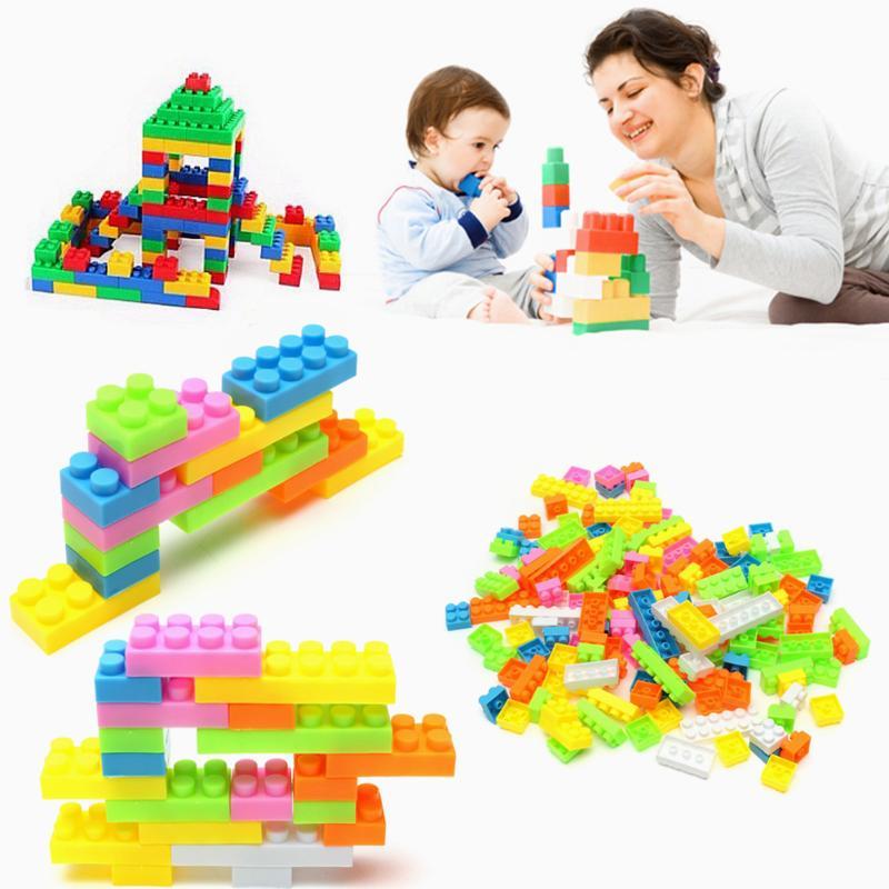 144Pcs Model Building Kits Plastic Building Blocks Bricks Children Kids Educational Puzzle Toy Model Building Kits for Kids Gift