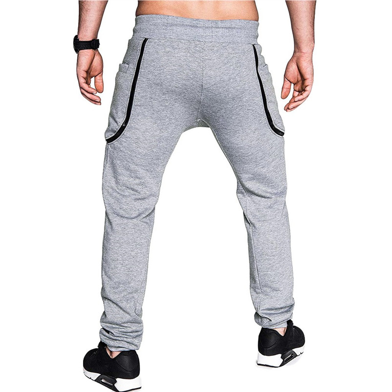 Men Pocket Pure Color Overalls Casual Pocket Sport Work Casual Trouser Pants Sports Running Accessories Pants 40LY05 (9)