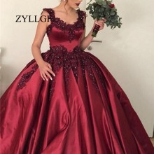 ZYLLGF Burgundy Mother Dresses Ball Gown Appliques