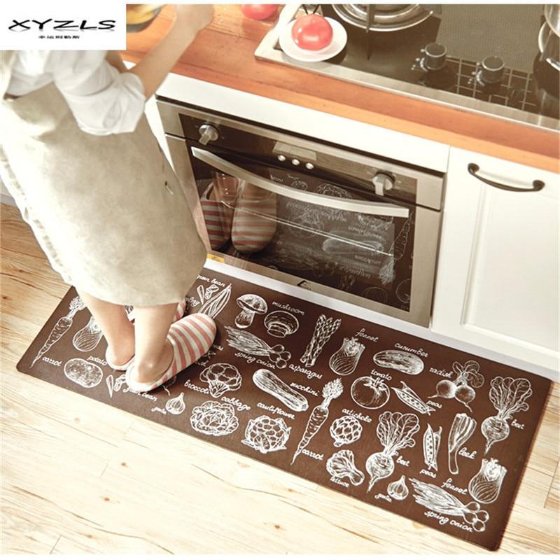 XYZLS Modern Welcome Floor Mats Vegetables Printed Kitchen