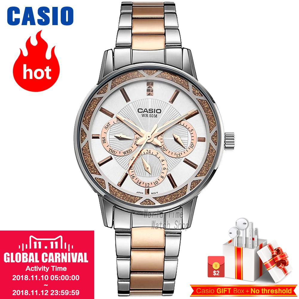 Casio watch Fashion simple pointer waterproof quartz ladies watch LTP-2087RG-7A LTP-2087SG-7A LTP-2087D-1A LTP-2087G-4A casio ltp e118d 7a