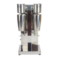 1PC Commercial Stainless Steel Milk Shake Machine Double Head Mixer Blender Make Milks Foam/Milkshake Bubble Tea Machine
