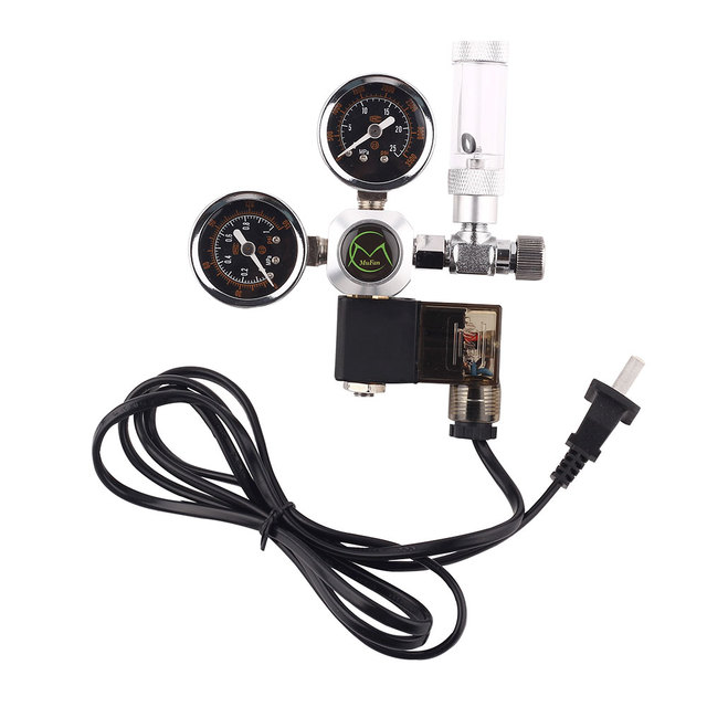 Aquarium CO2 Regulator Tank Live Plant Flow Pressure control Check Valve  Bubble Counter Decompression Table Cylinder Adapter-in CO2 Equipment from