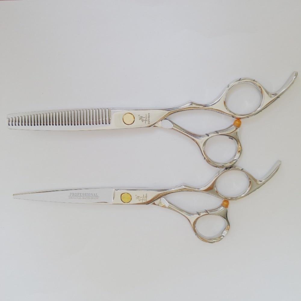 ФОТО SiYun high quality 6.0 inch Topedges professional hairdressing scissors set combination