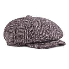 f14a5699a39 2017 Winter New Style Men Hat Fashion Warm Newsboy Caps Bone Snapback  Casual Wool Hat Balaclava