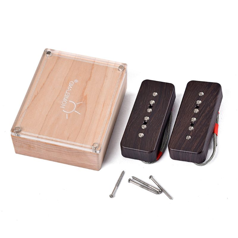 Guitar Parts Accessories Replacement Pickup Set for P90 6 string Alnico 5 single coil pickup wood color