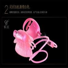 LYG бабочка летит пульт дистанционного Tiaodan энергосберегающие вибрационный массаж клитора вкус Взрослых поставок