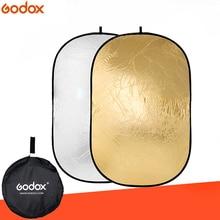 Godox Reflector de fotografía ovalado, luz plegable portátil, 2 en 1, 100x150cm, para estudio, Multi disco de foto