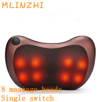 Electric Kneading Neck Shoulder Back Cervical Lumbar Leg Massager Infrared Heating Shiatsu Massage Pillow Car Chair