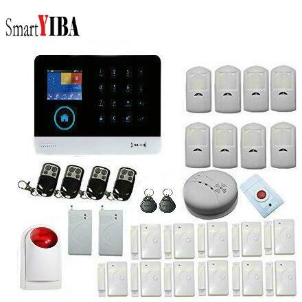 SmartYIBA Auto Dial Outdoor Siren Wireless WIFI Burglar Alarm House Business Protection with Wireless Shock Sensor