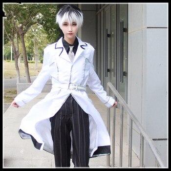 Caliente Tokyo Ghoul Cosplay de anime de Halloween traje para hombre, mujer, porque Finsin Zuozum Sasaki Haise Cosplay traje ropa cortavientos