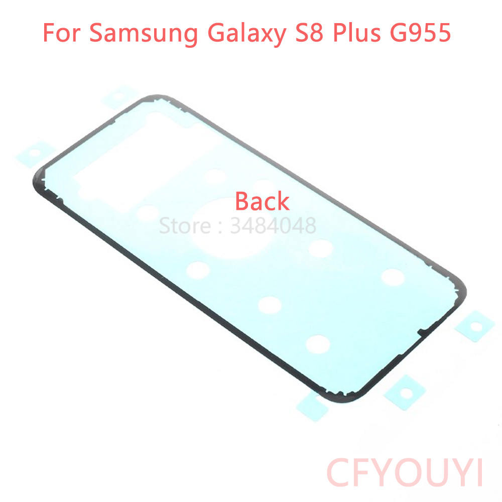 CFYOUYI Front LCD Screen Frame + Battery Back Cover Sticker +Middle Plate Adhesive Glue For Samsung Galaxy S8 Plus G955