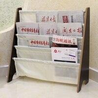 Bedroom Newspaper Display Storage Holder Home Storage Rack Assembled Bookshelves Magazine Sling Storage Rack