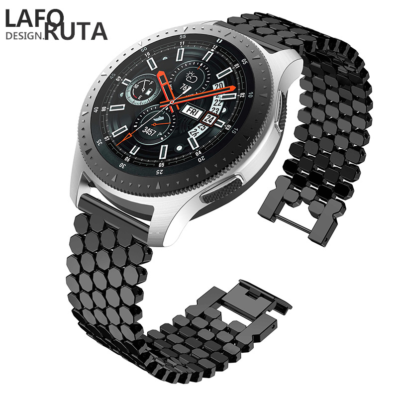 Laforuta Stainless Steel Band For Samsung Galaxy Watch 46m  Samsung Gear S3 Frontier/Classic Wristband22mm Quick Release Strap