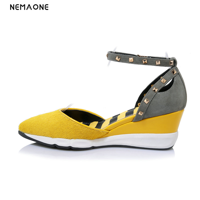 NEMAONE women wedges high heel shoes platform sexy quality lady brand wedding fashion heeled pumps heels shoes size 32-43 hot sale brand ladies pumps sexy women high heels platform sexy women high heel pumps wedding shoes free shipping 2888 1
