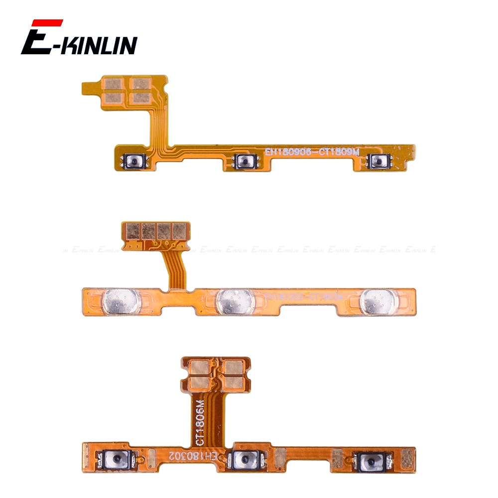 Volume Button Power Switch On Off Key Ribbon Flex Cable For HuaWei Y9 Y7 Y6 Pro Y5 Prime GR5 2017 2018 2019 Replacement Parts