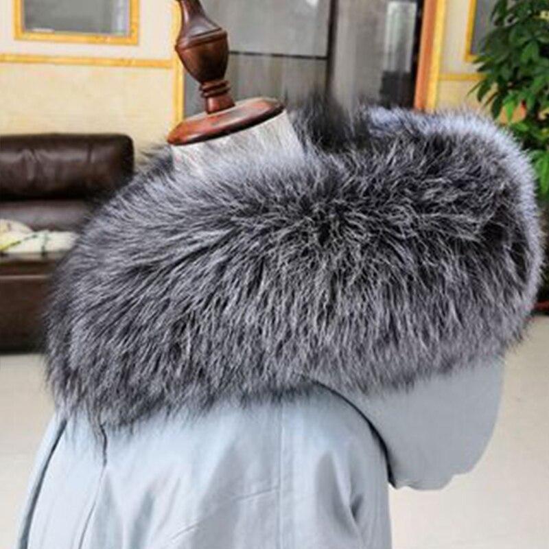 2019 nouveau collier de fourrure en cuir pour femmes col de fourrure de renard artificiel multicolore col châle fourrure femme mode automne et hiver chaud - 2
