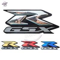 الكروم ملصقات GSX-R موتو الدراجة النارية 3d دبابات مزينة الشارات ملصقا ل R-GSX سوزوكي gsxr 600 750 1000