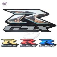 Chrome Motorcycle 3D GSX-R Stickers Moto Bike Tank Versierd Decals Sticker case voor SUZUKI R-GSX GSXR 600 750 1000
