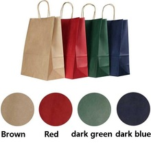 20PCS kraft paper bag with handle / horizontal Multifunction  party /Fashionable cloth shoes gift bags 33*25*12CM