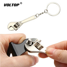 Wrench Keychain Stainless Steel Car Key Ring High-grade Simulation Spanner Key Chain keyring Keyfob Tools Novelty car keychain stainless steel car styling key ring high grad leopard model key chain auto keyring keyfob pendant for man gift